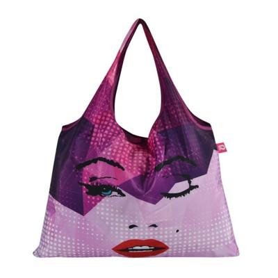 Polyester Folding Bag Oxford Cloth Nylon Strawberry Bag Portable Portable Waterproof Japanese Style Green Shopping Bag