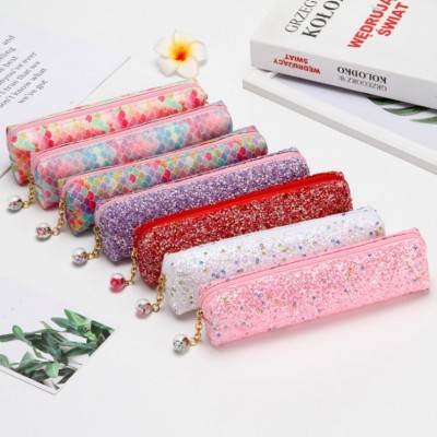 Laser Sequined Diamond Pencil Case Explosion-proof Student Supplies Colorful Stationery Bag