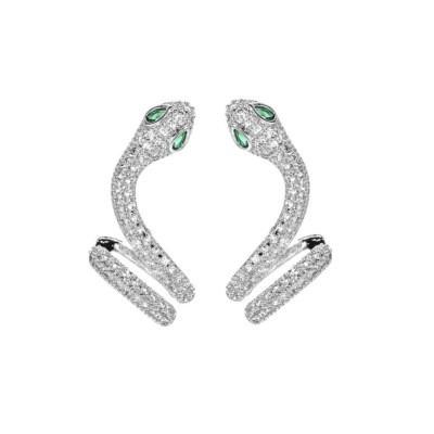 Snake-shaped Earring For Female Design Sense Earring Stud New Fashion Ear Bone Clip Personality Earring
