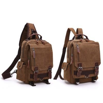 Canvas Outdoor Travel Messenger Chest Bag OL Unisex Single Shoulder Backpack For Men
