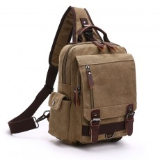 Canvas Outdoor Travel Messenger Chest Bag OL Unisex Single Shoulder Backpack For Men