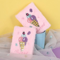 Stationery Book A6 Book Creative Stationery Ice Cream Diary Plush Notebook Customization