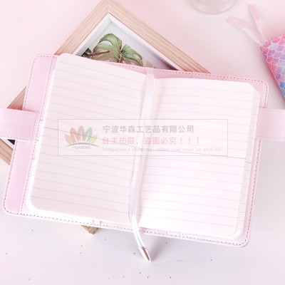 Stationery Gift Travel Hand Ledger Multi-function Card Storage Notebook Fish Scale Glitter Notebook