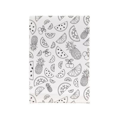 Children's Coloring Book With Bookmark Horizontal Notepad Creative Fruit DIY Cover Notebook