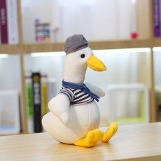 Goose Plush Toy Cute Doll Hooded Big White Goose Doll Gift For Children