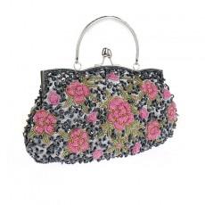 Retro Bead Embroidery Handmade Bag Cheongsam Bag Practical Portable Beaded Bag Exquisite Banquet Bag