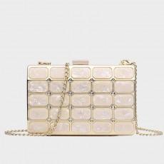 Square Head Chain Small Bag Clutch Korean Banquet Messenger Dinner Bag For Ladies