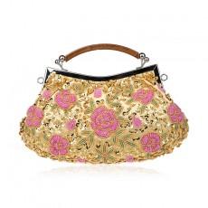 Classic Retro Handmade Flower Bead Embroidery Bag Three-dimensional Exquisite Handmade Bag Dress Dinner Bag