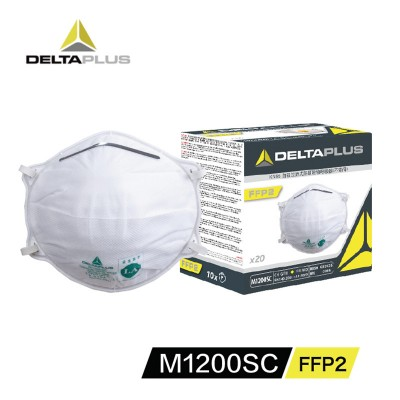 DeltaPlus M1200SC FFP2 Protective Mask Head-mounted Cup Type Anti-particulate Mask 20 Pcs