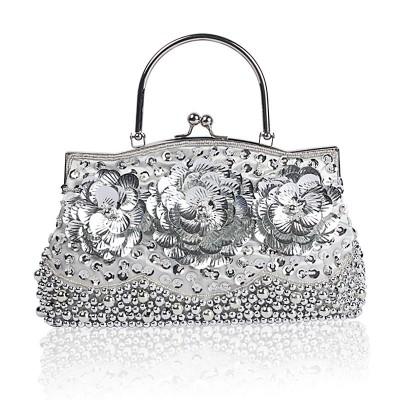 Dress bag, Hand-held Shoulder Diagonal Bag, High-quality Bead Embroidered Rhinestone Dinner Bag For Ladies