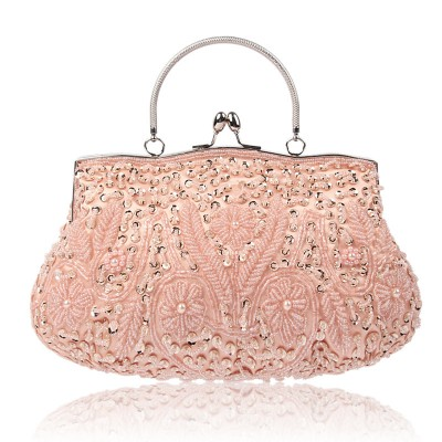 Classic Retro Handmade Bag Bead Embroidery Dress Bag Dinner Bag For Ladies