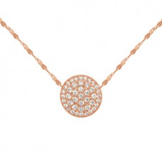 S925 Sterling Silver White Collar Pendant With Simple Fashion Diamond Round Necklace