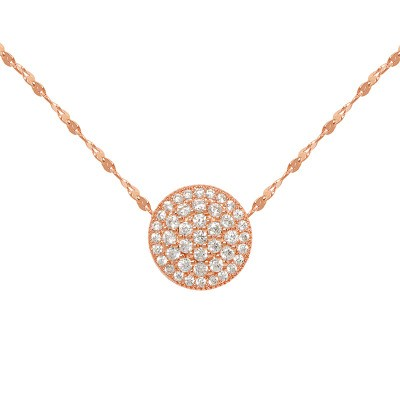 Opal DIY Accessories Dazzling Simple Fashion Flashing Diamond Round Transfer Bead Starry Necklace