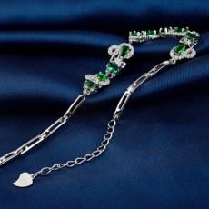 New S925 Sterling Silver Diamond Inlaid Zircon Bracelet Women Fashion Luxury Silver Jewelry MOQ 1PCS