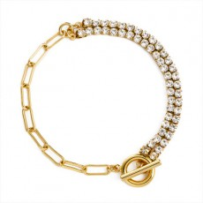 Best-selling Individual Geometric Bracelet Female Bracelet Copper Plated Gold Set With Diamond Snake Bracelet Bracelet MOQ 1PCS