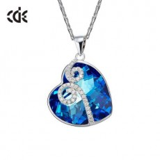 S925 Sterling Silver Necklace with Swarovski Crystal Inlaid with Diamond Collarbone Chain