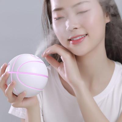 Basketball LED Rotating Humidifier USB Creative Air Atomizer Silent Mini Office Desktop Anti-drying Humidifier