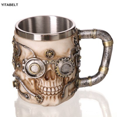 Stainless Steel Skull Cup Coffee Cup Beer Mug Tea Cup Family Party Bar Decoration Gift 500ml