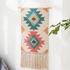 INS Draped Tassel Tapestry Adornment Bohemian Nordic Hand-woven Tassel Art Tapestry Wall Adornment MOQ 1PCS