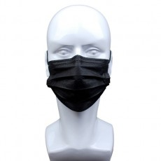 Black disposable mask, dust-proof and breathable, white disposable adult three-layer mask 50pcs