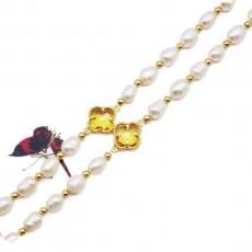 Clover Bracelet lucky Freshwater Pearl Bracelet