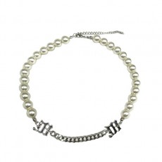 Pearl Splicing Necklace Personality Clavicle chain fashion Neck Chain