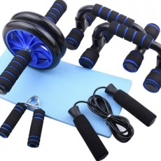 Abdominal Wheel Set Skipping Rope Grip Strengthener Push-up Stand Fitness Abdominal Wheel Set Home Sports and Fitness Equipment MOQ 1PCS