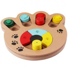 Intelligence Toys Pet Feeders Choke Prevention Puzzle Wooden Toys 1PCS