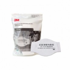 3M 1701CN Filter Cotton Dust-proof Industrial Dust Polishing and Decoration Activated Carbon Mask Accessories 10PCS