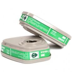 3M 6004CN Gas Mask Chemical Gas Filter Box Ammonia Methylamine Fertilizer Odor Filter Box 2PCS