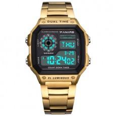 Panars Men's Waterproof Multi-functional Sports Watch Square Round Fashion Electronic Watch