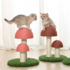 Cat Climbing Frame Natural Flax Mushroom Cat Scratching Post Imitation Lawn Large Wear Resistant Cat Toy Scratching Board MOQ 1set