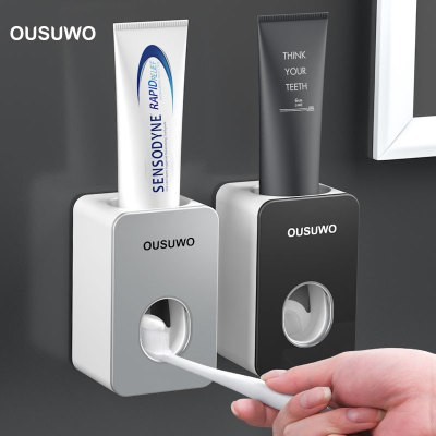 Ousuwo Toothpaste Squeezer Wall-mounted Automatic Toothpaste Squeezer Without Punching