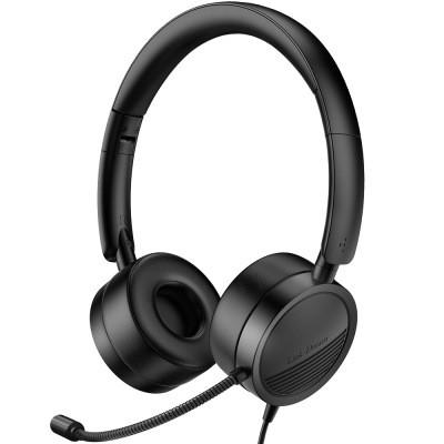 Digital Decoding USB Phone Earphone Computer Wire Control Earphone Customer Service Headphone Network Class Office Earphone