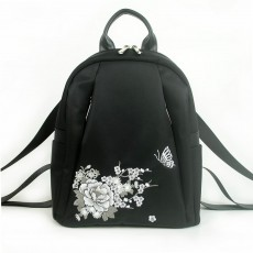 2020 New Design Embroidery Fashion Leisure Backpack Spring Bag For Female