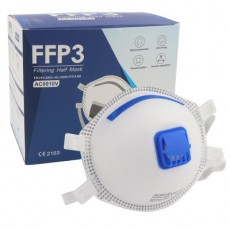 AC9910V FFP3 NR Mask with Breathing Valve Cup Type Head-mounted Protective Dust Mask