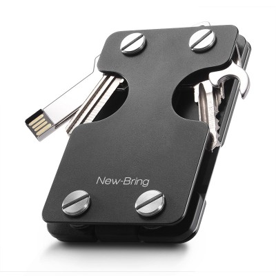 Multifunctional Key Case Men's All-in-one Bag Two-in-one Creative Metal Card Case Keychain Card Holder