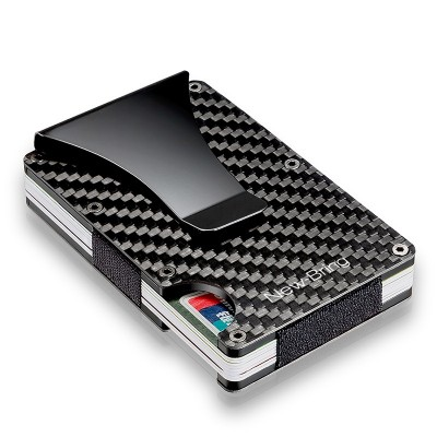 Carbon Fiber Metal Card Holder, Ultra-thin Aluminum Alloy Wallet, Anti-magnetic And Anti-rfid Credit Card Holder