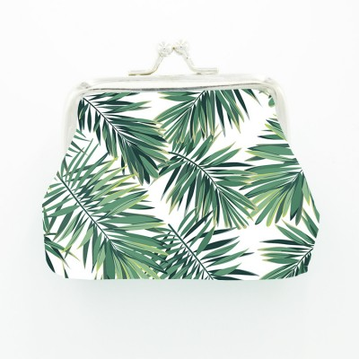 Palm Leaf Coconut Monstera Tropical Leaf European and American INS Style Printed Coin Purse