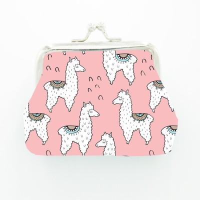 Wholesale Trendy Alpaca Ladies And Children Iron Buckle Wallet Coin Purse Key Case