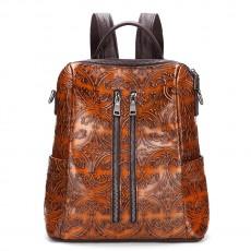 Retro Casual Shoulder Bag Head Layer Cowhide Handbag Travel Bag Hand Rub Color Backpack