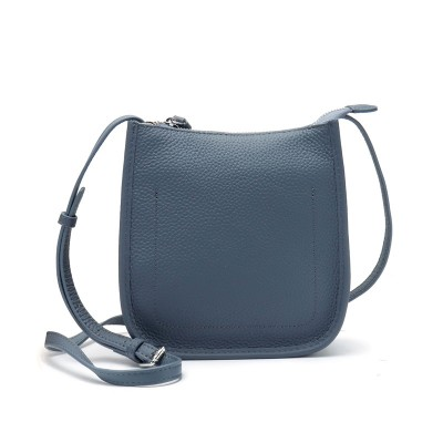 Trendy Korean Style All-match Casual Top Layer Cowhide Messenger Bag Ladies One-shoulder Small Bag