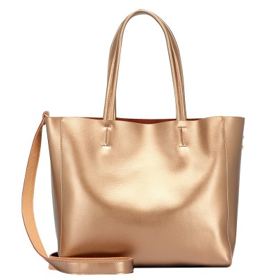 2021 Spring Leather Handbags Simple Fashion Large-capacity Picture-mother Bag Female Cowhide Single Shoulder Bag