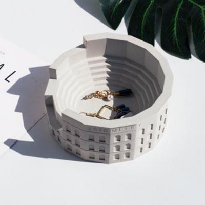 Original Cement Storage Home Accessories Desktop Ornaments Jewelry Box Nordic Colosseum Ancient Roman Micro-architecture