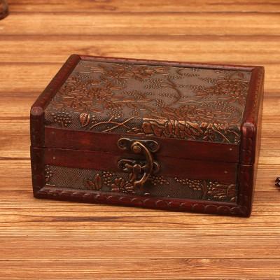 Wooden Storage Retro Box Wooden European-style Jewelry Box Wooden Retro Box Prop Storage