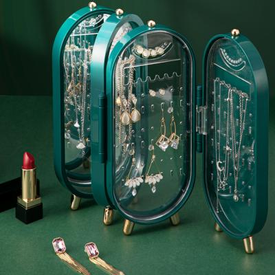 Self-designed Desktop Jewelry Storage Box Earrings Jewelry Multilayer Dustproof Jewelry Box