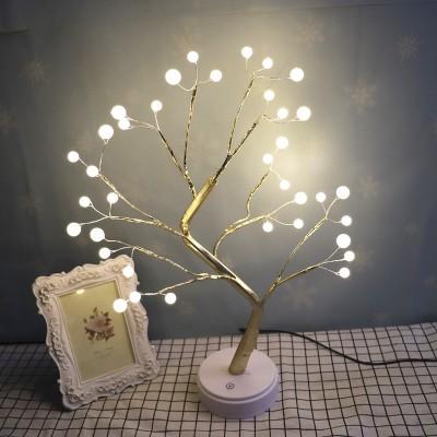 USB Type Firefly Tree Light Decoration Night Light With Removable Base Battery Box