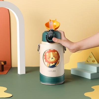 Aylee Smart Children's Thermos Cup Straw Pot Kindergarten Pupils Water Bottle Stainless Steel Portable Water Bottle