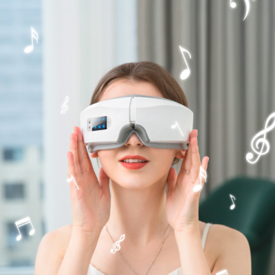 Air Pressure Hot Compress Bluetooth 4D Vision Eye Care Device Eye Massager