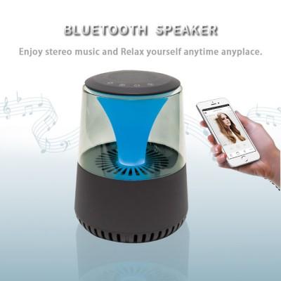 2021 Multifunctional Smart Air Purifier Desktop Negative Ion Purifier With Bluetooth Playback